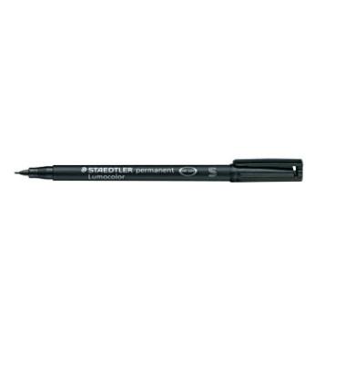 Folienstift S schwarz 0,4 mm permanent