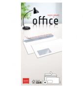Briefumschläge Office Din Lang+ mit Fenster haftklebend 80g hochweiß 50 Stück