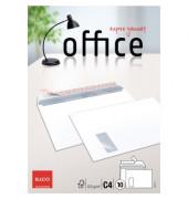 Versandtaschen Office C4 mit Fenster haftklebend 80g hochweiß 10 Stück