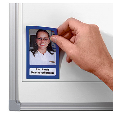Fototaschen/FTK 03/5 72x115mm blau Inh.5 magnetisch