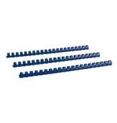 Plastikbinderücken 17140321 blau US-Teilung 21 Ringe auf A4 110 Blatt 14mm 100 Stück