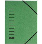 Eckspannmappe 24007 A4 335g grün