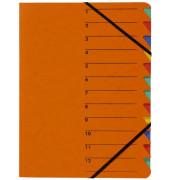 Ordnungsmappe EASY 12tlg. orange