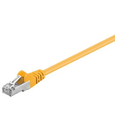 Netzwerkkabel gelb RJ-45 Stecker 3m Cat 5e