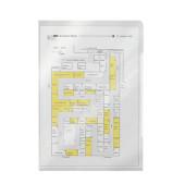 Sichthüllen 4060-00-00, A4, farblos, transparent, genarbt, 0,17mm, oben & rechts offen, PP