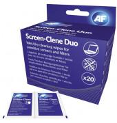 Bildschirm-Reinigungstücher Screen-Clene für Bildschirme/Glas 20 Doppelbeutel