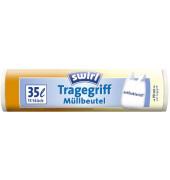 Müllbeutel Tragegriff weiß 35,0 l 1 Pack   15 Stück