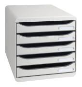 Schubladenbox Big-Box Plus lichtgrau/lichtgrau 5 Schubladen geschlossen