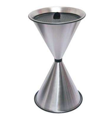 Standaschenbecher silber Edelstahl Durchmesser 40 cm