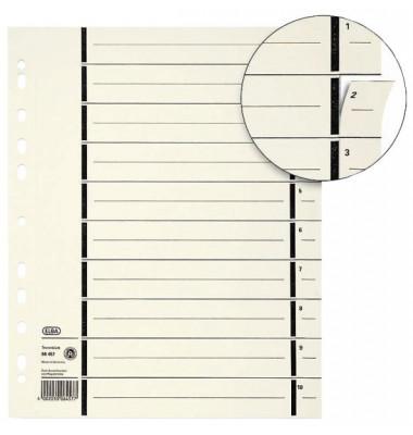 Trennblätter 06458 A4 chamois perforiert 200g 100 Blatt Recycling
