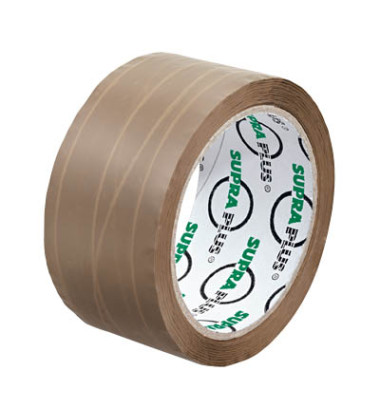 Packband SUPRAPLUS 100957, 50mm x 50m, PP, fadenverstärkt, leise abrollbar, braun