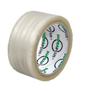 Packband SUPRAPLUS 100853, 50mm x 50m, PP, fadenverstärkt, leise abrollbar, transparent