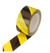 """Signal-Packband """"Warnband schwarz/gelb"""" aus Polyvinylchlorid (PVC)"""