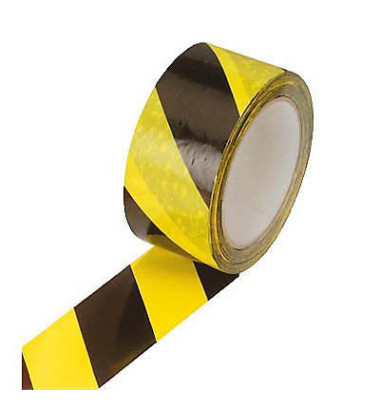 Signalklebeband 100337, 50mm x 66m, PVC, leise abrollbar, gelb/schwarz