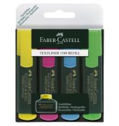 Textmarker 1548 Textliner 4er Etui farbig sortiert 1-5 mm Keilspitze