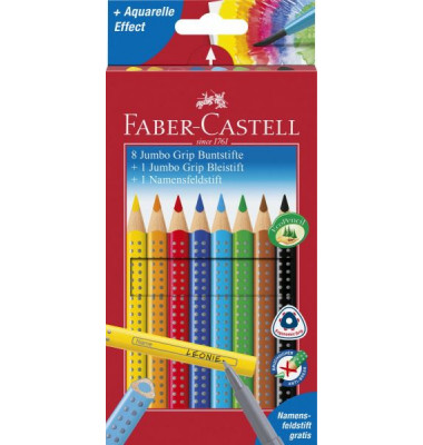 faber castell jumbo grip promotionetui 8 1 1. Black Bedroom Furniture Sets. Home Design Ideas