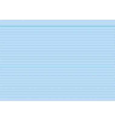 Karteikarten 1150 A5 liniert 190g blau 100 Stück