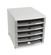 Schubladenbox Contur 1505-0-19 lichtgrau/dunkelgrau 5 Schubladen