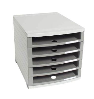 Schubladenbox Contur dunkelgrau/dunkelgrau 5 Schubladen