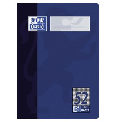 Oktavheft A6 Lineatur 52 kariert weiß 32 Blatt