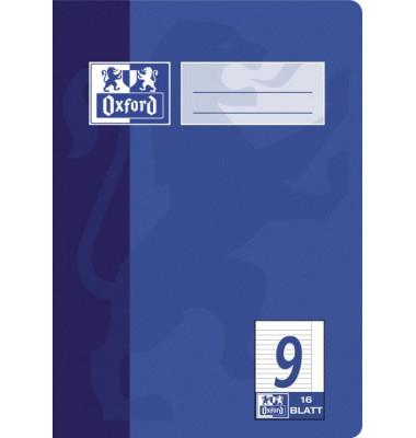 Schulheft A5 Lineatur 9 liniert mit Rand weiß 16 Blatt