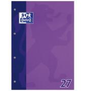 Schulblock liniert mit Rand links + rechts /384405027 DIN A4 sortiert 90g/qm