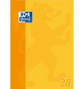 Schulblock kariert Lineatur 28 mit Rand links + rechts /384405028 DIN A4 sortiert 90g/qm