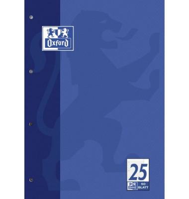 Berufsschulblock 384405025 A4 4-fach sortiert Lineatur 25 liniert 9mm mit Rand 90 g/qm