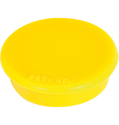 Haftmagnet rund 32mm gelb 10St.
