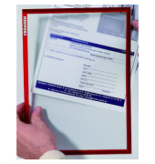 Dokumentenhalter A4 rot magnethaftend