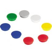 Magnete HM20 Ø 24mm farbig sortiert  10St