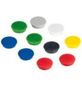 Haftmagnet Ø 32mm farbig sortiert  10St