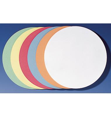 Moderationskarten Kreise Ø 19,5cm selbstklebend farbig sortiert 300 Stück