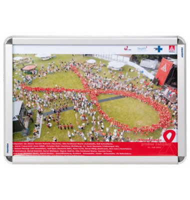Plakat-Klapprahmen BS080 silber A2 mit Antireflexfolie