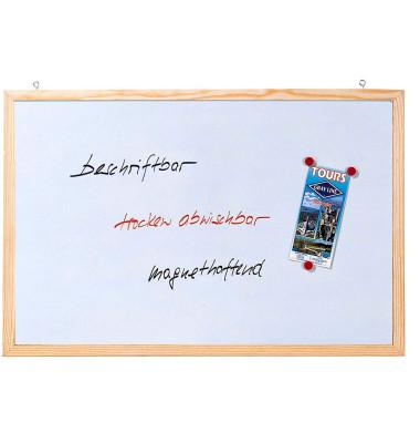 Whiteboard Memoboard 80 x 60cm lackiert Holzrahmen