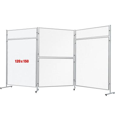 ECO 150 x 120 cm Stellwand Whiteboard magnetisch EL-UTS150 ohne Standfüße