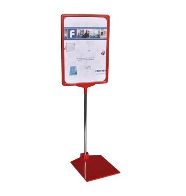 Preisständer A4 ausziehbar 32-62 cm rot
