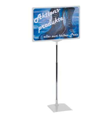 Preisständer A4 ausziehbar 32-62 cm grau