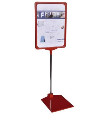 Preisständer A3 ausziehbar 32-62 cm rot
