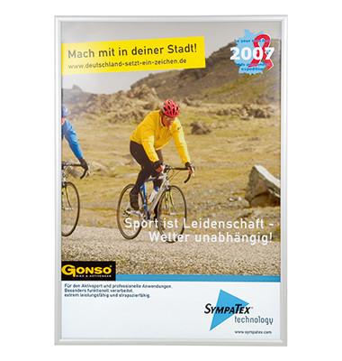 Plakat-Klapprahmen BS170 silber A0 für Außenbereich mit Antireflexfolie