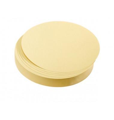 Moderationskarten Kreise Ø 9,5cm gelb 500 Stück