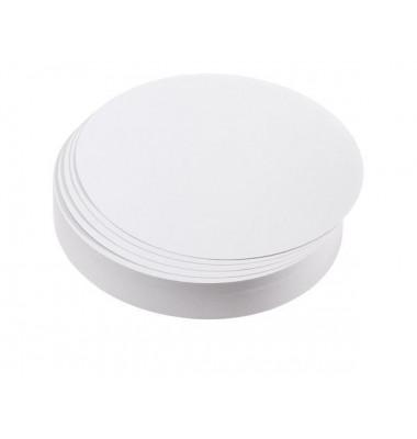 Moderationskarten Kreise Ø 14cm weiß 500 Stück