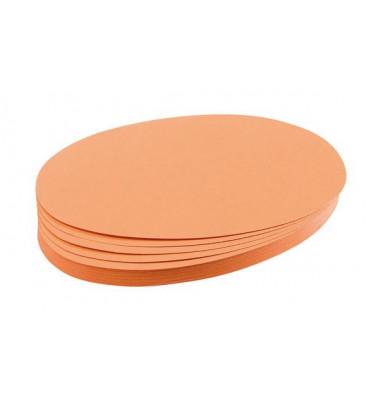Moderationskarten Ovale 11x19cm orange 500 Stück