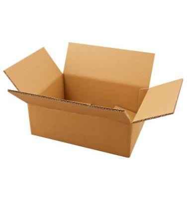 Faltkartons 36,3 x 26,3 x 14,8cm braun 20 Stück Wellpappe