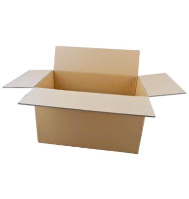 Faltkartons 61,3 x 36,3 x 37,8cm braun 20 Stück Wellpappe