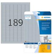 Typenschild Etiketten SILBER 4220 25 x 10 mm 4725 Stück Folie wetterfest strapazierfähig