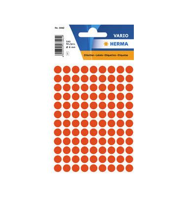 Etikett Ø 8mm Farbpunkt rot 540 Stück
