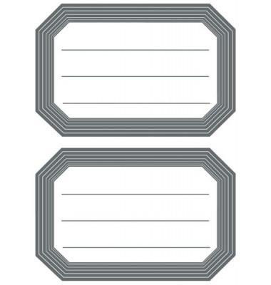 Schuletiketten neutral grau Linier 82x55