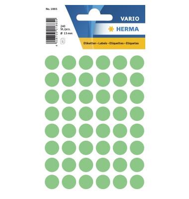 Etikett Ø 12mm Farbpunkt grün 240St.