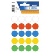 Vielzweck-Etiketten ø 19 mm  100St farbig sortiert